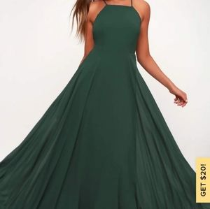 Green maxi dress lulu's
